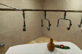 massage therapy room with shower